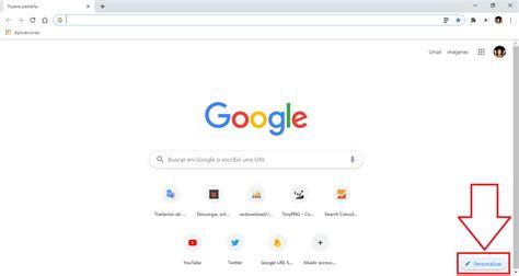 Como personalizar el fondo de pantalla de Google Chrome.