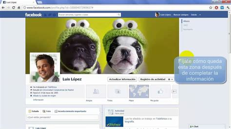 Cómo personalizar tu perfil Facebook   Tu foto, portada e ...
