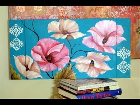 Como pintar Flores al Óleo  Pinceladas   Silvia Mongelos ...