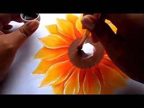 como pintar flores, girasol how to paint flowers ...