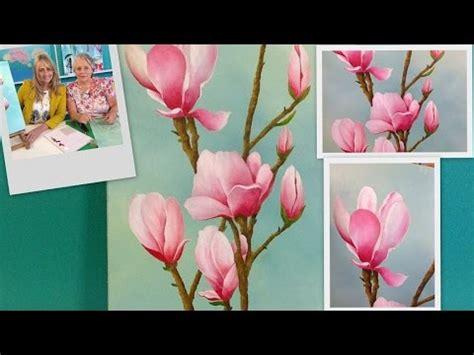 Como pintar Flores   Magnolias   Píntar al Oleo   Mabel ...