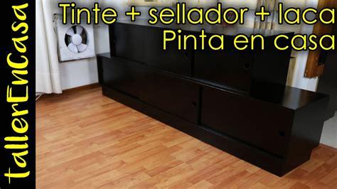 Como pintar mueble de Madera en casa   Tintar, Sellar y ...