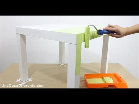 Cómo pintar muebles de melamina   Mesa Lack Ikea   YouTube