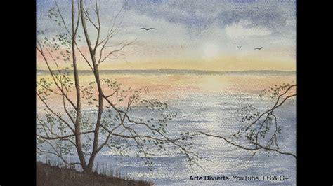 Cómo pintar un paisaje marítimo en acuarela, con reflejos ...