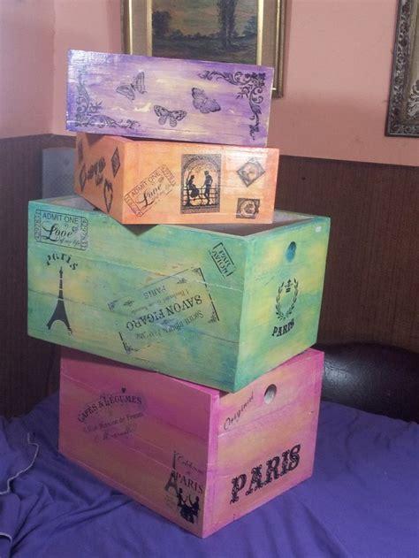 como pintar una caja de madera estilo vintage   Buscar con ...