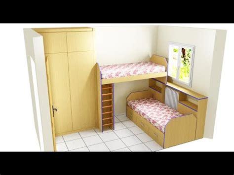 como poner dos camas en habitación pequeña   YouTube