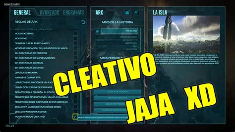 como poner en creativo ark   YouTube