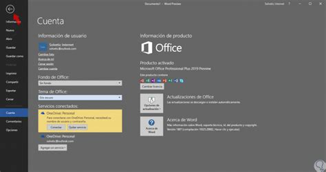 Cómo poner modo oscuro Office 2019, 2016, 2013   Solvetic