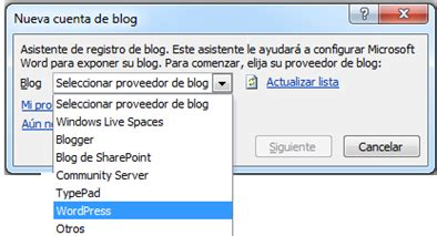 Como publicar entradas en WordPress desde Microsoft Office ...