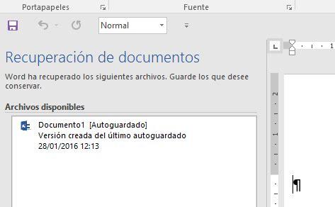 Cómo recuperar archivos sin guardar en Word