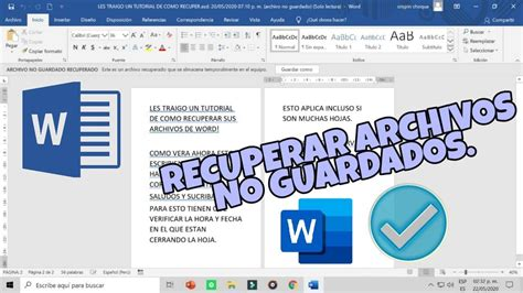 Cómo recuperar documentos de word  no guardados  / Exacto ...