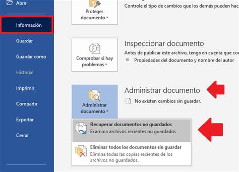 Cómo recuperar documentos de Word sin guardar   Tecno HowTo