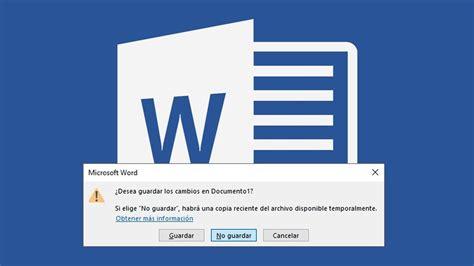 Cómo recuperar documentos no guardados en Word [ATL]   YouTube