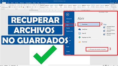 Cómo recuperar documentos sin guardar en Word, Excel o ...