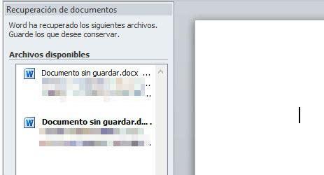 como recuperar un archivo no guardado en word