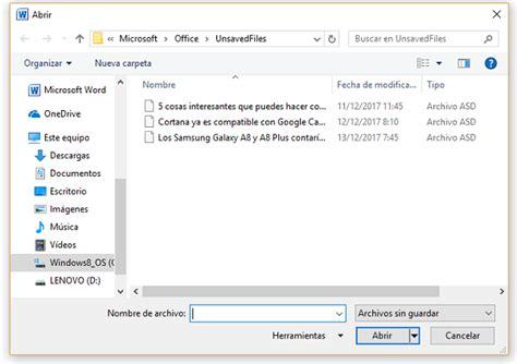 Cómo recuperar un documento sin guardar en Microsoft Word ...