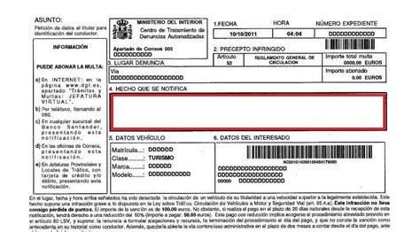 Cómo recurrir una multa de tráfico: modelo carta de ...