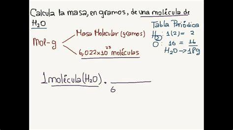 Como Se Calcula La Masa Molecular De Un Gas Ejemplos ...