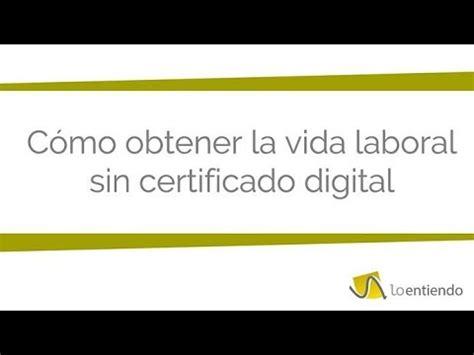 Cómo solicitar la vida laboral sin certificado digital ...