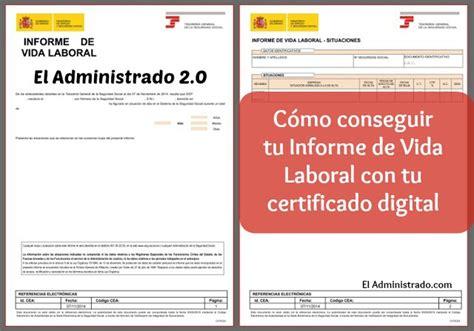 Cómo tener tu informe de vida laboral con un certificado ...