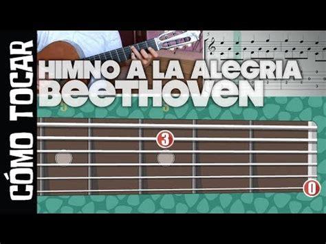 Cómo tocar Himno de la alegría de Beethoven tab/guitarra ...