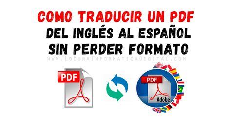 Cómo Traducir un PDF de Inglés a Español sin perder el ...