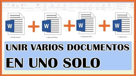 Como unir varios documentos en uno solo   Laboratorio ...