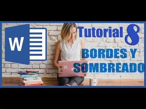 Como usar Bordes y Sombreado en WORD Tutorial 8 Curso Word ...
