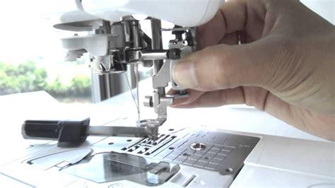 Como usar el pie de bordado en la maquina de coser Brother ...