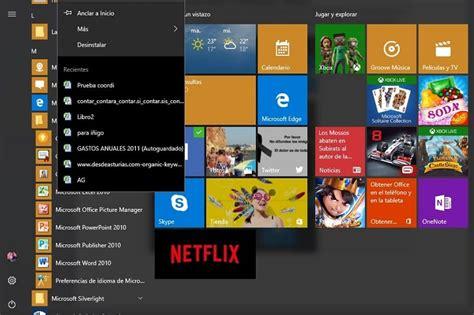 Cómo ver los documentos recientes en Windows 10 y el menú ...
