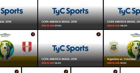 Cómo ver online la Copa América 2019 en TyC Sports Play ...