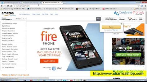 Como Ver Y Comprar En Amazon Con Idioma Español. Amazon En ...