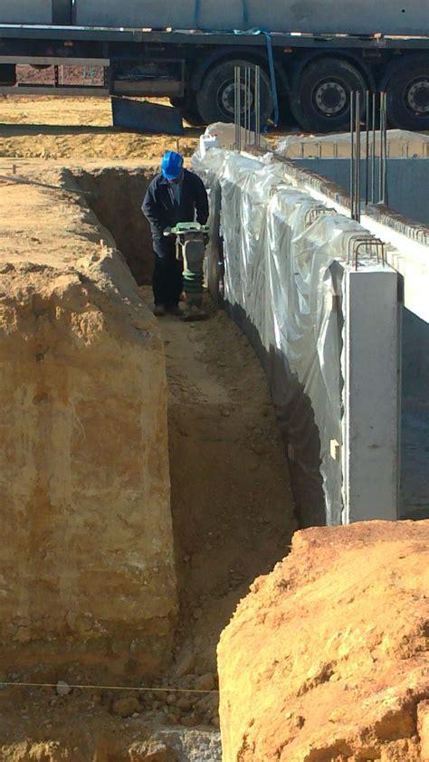 Compactación relleno trasdos muro sótano   Estructura de ...