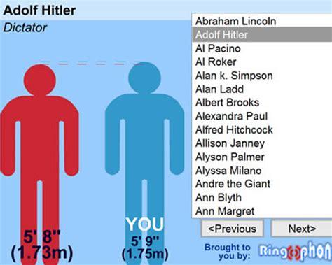 compara tu altura con la de los famosos   Taringa!