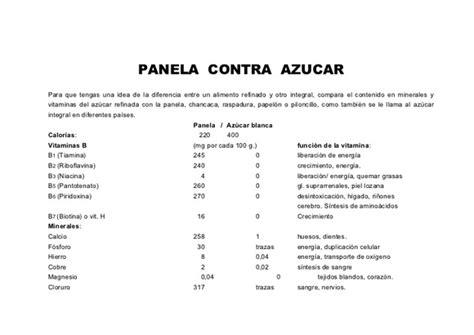 COMPARACIÓN DE LA COMPOSICIÓN NUTRICIONAL DE AZÚCAR BLANCA ...