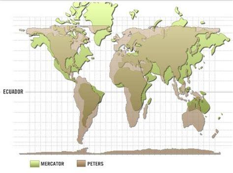 comparaison projections du mercator et de peters