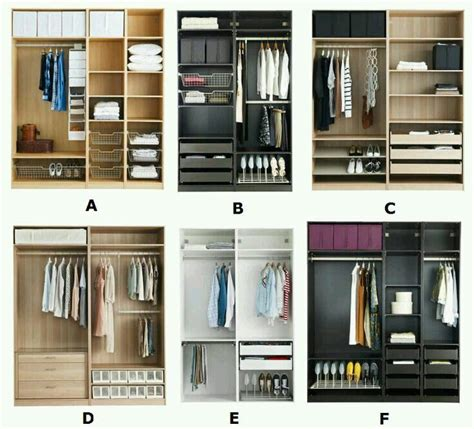 Composición armario ikea | Interiores de armarios ...