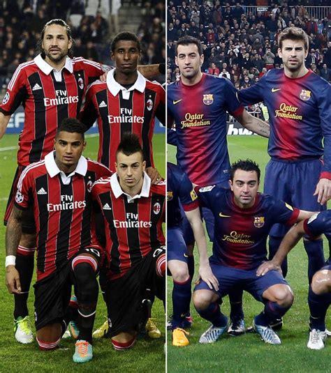 Composition Milan AC   FC Barcelone : Les équipes ...