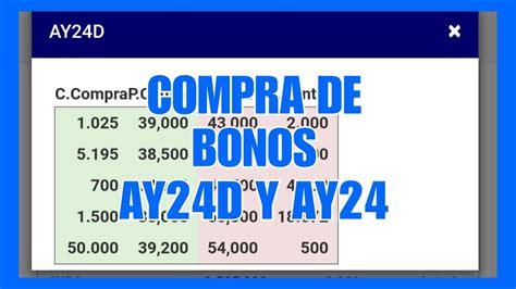 COMPRA DE BONOS AY24D Y VENTA AY24   YouTube