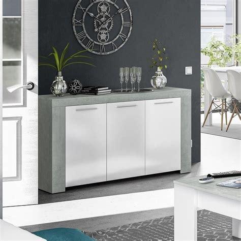 Comprar aparador barato AMBIT blanco Artik cemento ...