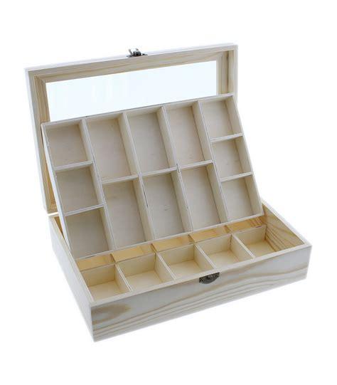 Comprar Caja de madera tapa con cristal con 12 ...