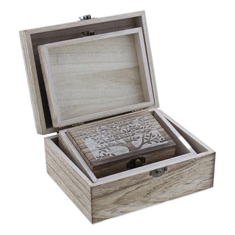 Comprar Caja de madera tapa decorativa con 2 cajas ...