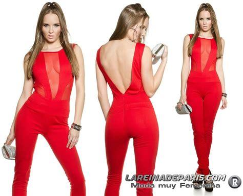 Comprar Mono largo con transparencias rojo online Monos ...