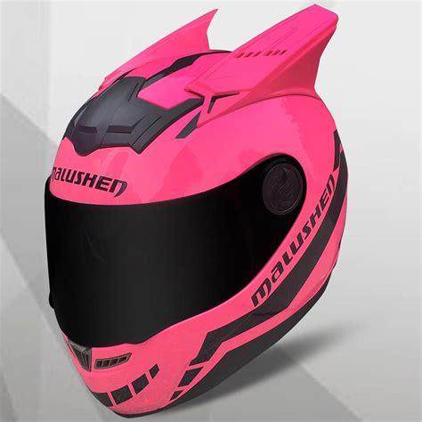 Compre MALUSHUN Casco De Moto Mujer Flip Up Casco De ...
