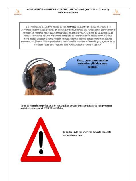 Comprensión auditiva  Los últimos ciudadanos  Nivel A1 A2 ...