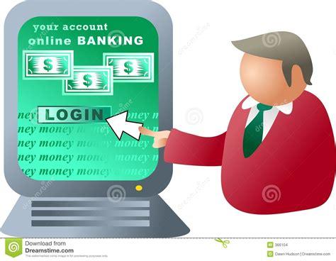 Computer banking stock illustration. Illustration of ...
