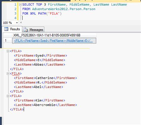 CONCATENAR USANDO FOR XML PATH Y STUFF ~ SQL SERVER