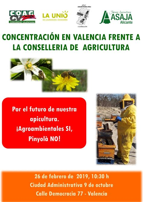 Concentración apícola en Conselleria de Agricultura ...