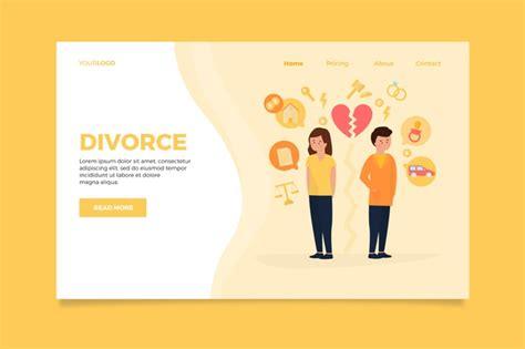 Concepto de divorcio plantilla de página de destino ...