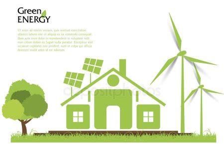 Concepto de energía renovable de vector creativo. Turbinas ...